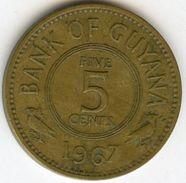 Guyana 5 Cents 1967 KM 32 - Guyana