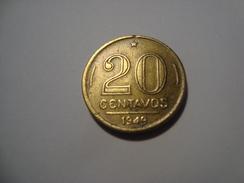 MONNAIE BRESIL 20 CENTAVOS 1949 - Brazil