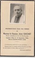 L15- 47) AGEN - CDV - AVIS DE DECES DU 10 SEPTEMBRE 1946 - MONSIEUR LE CHAMOINE JEAN GACHET - (2 SCANS) - Bon Encontre