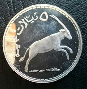 """OMAN 5 RIALS 1976 SILVER PROOF """"Conservation"""" Free Shipping Via Registered Air Mail - Oman"""