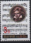 North Korea 2006 OVERPRINT Musique Musik Music Ludwig Von Van Beethoven Composer Compositeur MNH** RARE - Musique