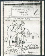 1943 GB Airgraph 'Christmas Greetings From The Mediterranean' - Edinburgh - 1902-1951 (Kings)