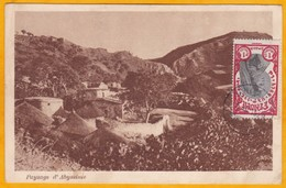 1929 - Carte Postale D'Ethiopie Vers Sèvres, France - Vue Paysage D'Abyssinie - Timbre Seul 1 Mehalek - Äthiopien