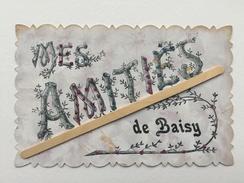 BAISY-THY «MES AMITIÉS DE BAISY «décorée De Strasse Paillettes De Différentes Couleurs,effet Nacré (1908) Édit V.P.F . - Genappe