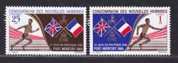 NOUVELLES-HEBRIDES N°  282 & 283 ** MNH Neufs Sans Charnière, TB (D4084) Jeux Sportifs Du Pacifique Sud - Légende Française