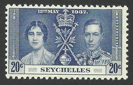 Seychelles, 20 C. 1937, Sc # 124, Mi # 120, MH - Seychelles (...-1976)
