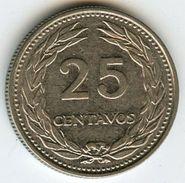 El Salvador 25 Centavos 1970 KM 139 - Salvador