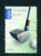 AUSTRALIA  -  2011  Golf  $1.65  International Post  Sheet Stamp  Used As Scan - 2010-... Elizabeth II