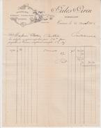 FACTURE / MOUSSELINES RIDEAUX DOUBLURES JULES GIRIN à TARARE - 1906 - France