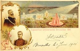 892/25 - Exposition Universelle De BRUXELLES 1897 - Entier Postal Illustré Bruxelles 1901 Vers ST GILLES - Cartes Illustrées