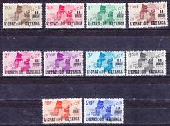 Katanga Nr 40-49 Neufs Avec Charnière - Postfris Met Plakker - MH  (X) - Katanga