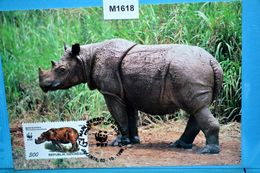 M1618 FDC WWF Sumatra-Nashorn, Dicerorhinus Sumatrensis, Hairy Rhinoceros, Rhinoceros, Rinoceronte, ID 1996 - Rhinozerosse