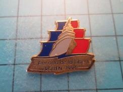 Pin510d Pin's Pins : BEAU ET RARE : VOILE VOILIER ARMADA DE LA LIBERTE ROUEN 1994 , Marquage Au Dos : - --- - - Boats