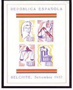 Bloc 1937 BELCHITE   V290 - Viñetas De La Guerra Civil