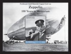 Saint Vincent  & The Grenadines 2017 Zeppelin 100 Years In Memoriam - Zeppelins