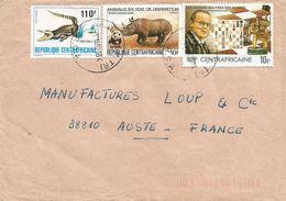 RCA CAR Empire Centrafrique 1984 Bangui WWF Rhino Chess Aaron Niemzovitch Crocodile Cover - Schaken