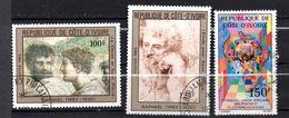 Lot De 3 Timbres Oblitérés -sujets Divers Côte D'Ivoire - Ivory Coast (1960-...)