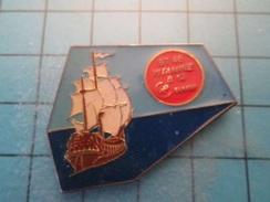 Pin510d Pin's Pins : BEAU ET RARE : BATEAU VOILIER VIEUX GREEMENT  VITAMINE B12  , Marquage Au Dos : - --- - - Boats