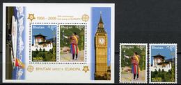 2006 -  BHUTAN - Mi. Nr.  2488/2489A + BL 477A - NH -  (UP.70.17) - Bhutan