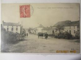 """Cpa SAINT PARDOUX (63) Route De Riom """"animée"""" - France"""