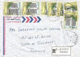 Congo 1985 Loubomo Hotel Registered Cover - Congo - Brazzaville