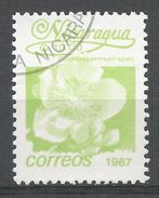 Nicaragua 1987. Scott #1595 (U) Cochllospermum Spec, Fleurs, Flowers - Nicaragua