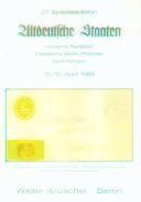 27. Kruschel Auktion 1988 - Altdeutsche Staaten - Auktionskataloge
