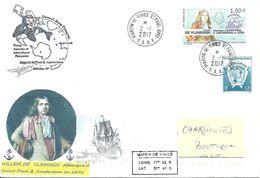 TAAF- Courrier De St.Paul & Amsterdam - Illustré Willem De Vlamingh - Franse Zuidelijke En Antarctische Gebieden (TAAF)