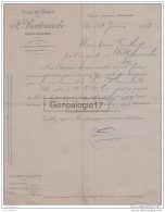 34 1391 MONTPELLIER HERAULT 1907 Vins J. BERTRANDE De SAINT ANDRE DE SANGONIS Et CASSAGNOLES Gard A GROSBOST - Agriculture