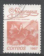 Nicaragua 1987. Scott #1596 (U) Hibiscus Rosasinensis, Fleurs, Flowers - Nicaragua