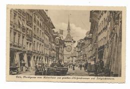 BERNA, MARKTGASSE VOM KAISERHAUS AUS GESEHEN. 1924 VIAGGIATA FP - BE Berne