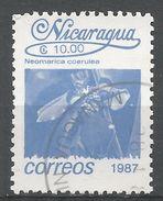 Nicaragua 1987. Scott #1599 (U) Neomarica Coerulea, Fleurs, Flowers - Nicaragua