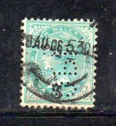 W174 - NEW SOUTH WALES , 1/2 Cents Usato . Fil Crown On A : PERFIN PERFINS - 1850-1906 New South Wales