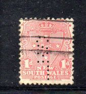 W192 - NEW SOUTH WALES , 1 Cents Usato . Fil Crown On A : PERFIN PERFINS - 1850-1906 New South Wales