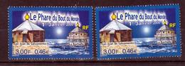 France 3294 Le Phare Du Bout Du Monde Variété Fond  Bleu Violet  Et Bleu Neuf ** TB MNH Sin Charnela - Varietà E Curiosità