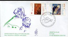 29450 Vaticano,  Fdc  2003, Painting Of Vincent Van Gogh  And Paul Gauguin - Arts