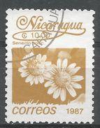 Nicaragua 1987. Scott #1601 (U) Senecio Spec, Fleurs, Flowers - Nicaragua