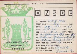 QSL Card Amateur Radio Station CB Belgian Belgium Torhout Maurits Myny QSO - Radio Amatoriale