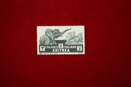 ERITREA  - PITTORICA   -  2 L.  - 1933 - USATO - Eritrea