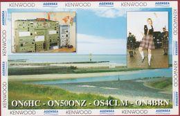 QSL Card Amateur Radio Station CB Belgian Belgium Knokke Heist Doedelzak Bagpipes 1997 Scotland Kilt  Tartan - Radio Amatoriale