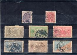 Sweden 1881 - 1918 Official Stamps 4o+12o+4o+5o+10o+20o+30o, Mi 33,38,2,3,5,7,9 /Sc O44,O49,O14,O15,O17,O20,O22 Used (o) - Suède