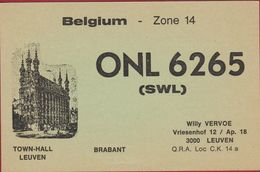 QSL Card Amateur Radio Station CB Belgian Begium Leuven Brabant Willy Vervoe 1982 - Radio Amatoriale