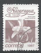 Nicaragua 1987. Scott #1602 (U) Sobralla Macrantha, Fleurs, Flowers - Nicaragua
