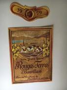6339 - Dorin Grande Réserve Rouges Terres 1979  Bonvillars  Suisse 2 étiquettes - Etiquettes