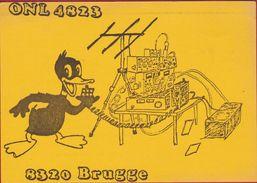 QSL Card Amateur Radio Station CB Belgian Begium Daniel Develter Brugge 1980 Disney Daffy Duck Lookalike - Radio Amateur