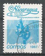 Nicaragua 1987. Scott #1603 (U) Stachytarpheta Indica, Fleurs, Flowers - Nicaragua