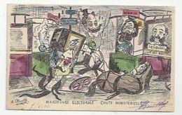 POLITIQUE SATIRIQUE - ILLUSTRATEUR : ROUILLY -  LA CHUTE DU GOUVERNEMENT WALDECK ROUSSEAU S'ANNONCE - 1902 - Satirical