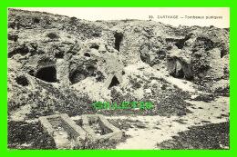 CARTHAGE, TUNISIE - TOMBEAUX PUNIQUES - DOS VERT - IMP. LE DELEY - - Tunisie