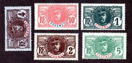 Dahomey N°18 à 22 N* TB Cote 50 Euros !!! - Dahomey (1899-1944)