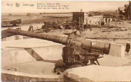 ZEEBRUGGE - Canon A L' Entrée Du Mole   (101366) - Guerra 1914-18